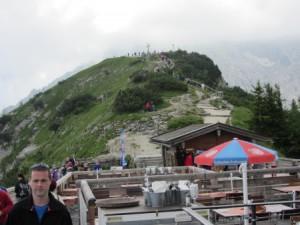 Blick vom Kehlsteinhaus zum Gipfel