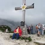 Ulli unterm Gipfelkreuz