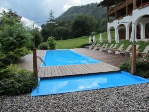 Der Pool bei unserem Hotel