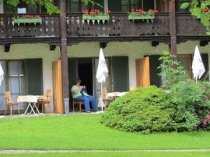 Hitchhiker stricken auf unserer Terrasse