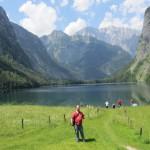 Jürgen vor der tollen Kulisse am Obersee