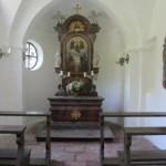 im Inneren der Kapelle